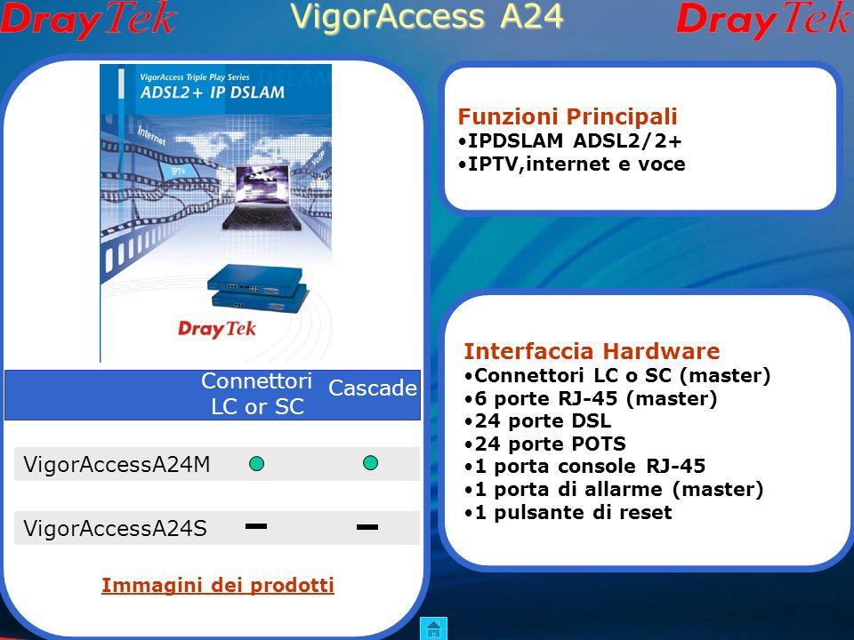 VigorAccess A24 Funzioni Principali Interfaccia Hardware Connettori
