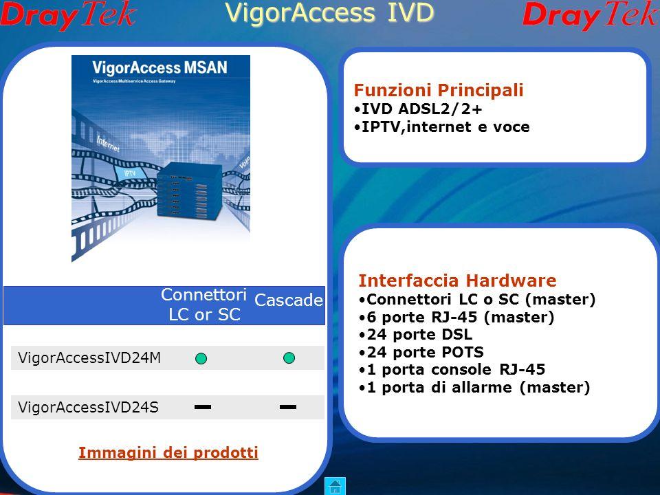 VigorAccess IVD Funzioni Principali Interfaccia Hardware Connettori
