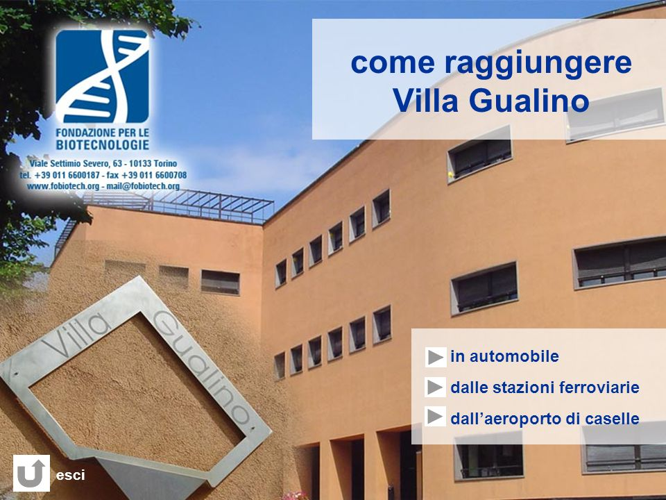 come raggiungere Villa Gualino