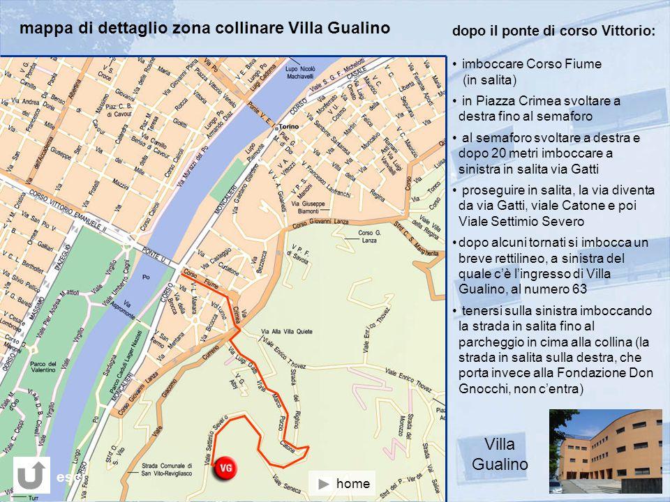 mappa di dettaglio zona collinare Villa Gualino