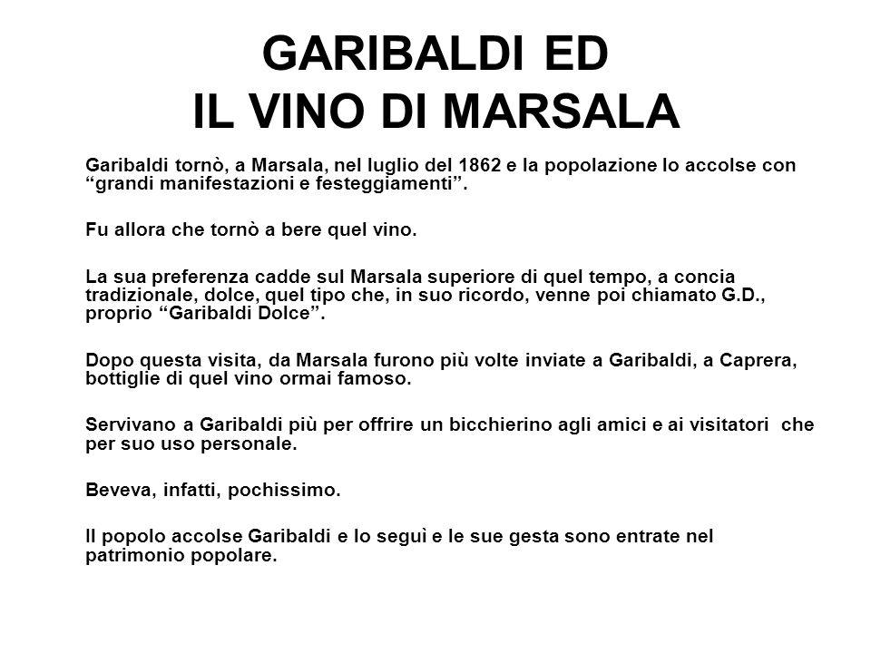 GARIBALDI ED IL VINO DI MARSALA