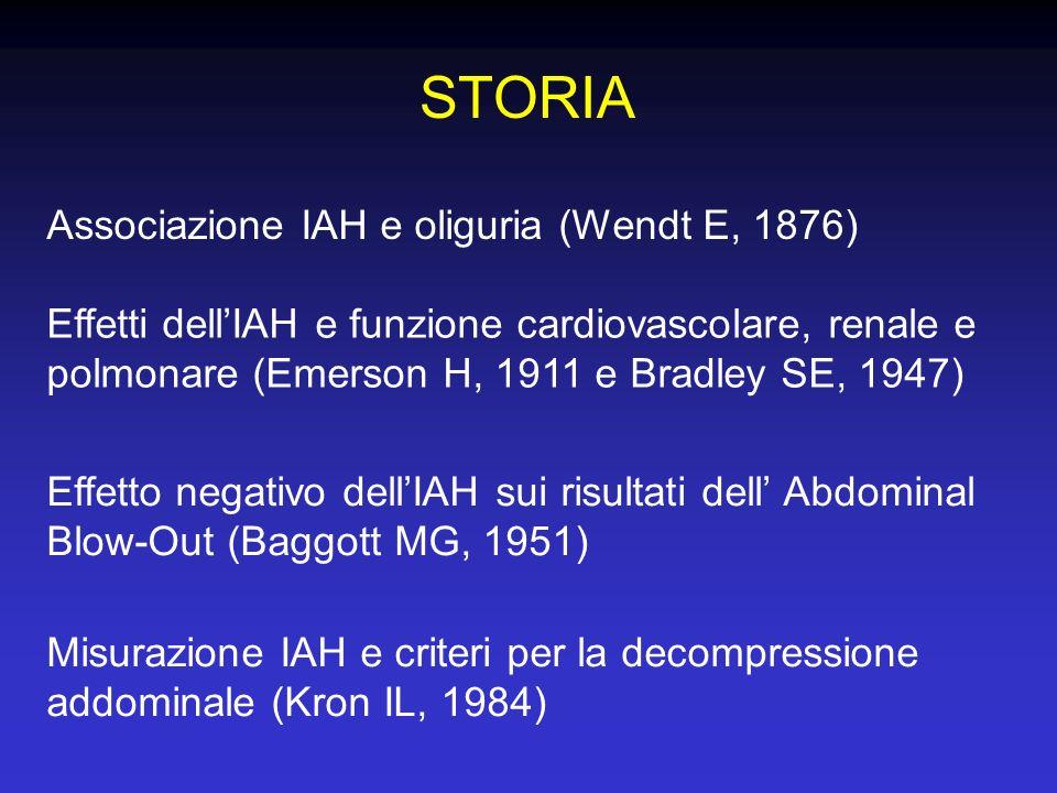 STORIA Associazione IAH e oliguria (Wendt E, 1876)