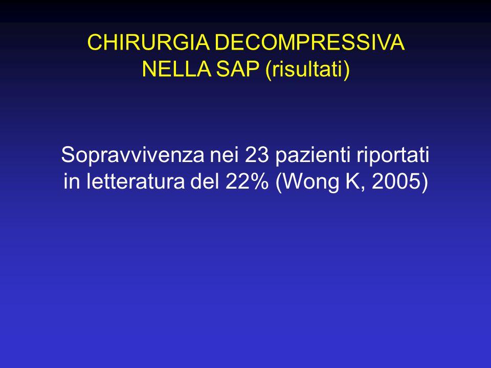 CHIRURGIA DECOMPRESSIVA NELLA SAP (risultati)