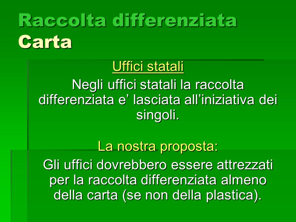 Raccolta differenziata Carta