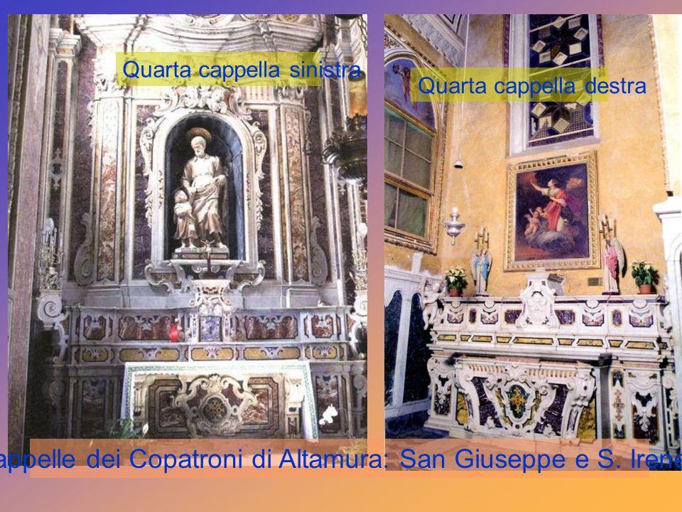 Cappelle dei Copatroni di Altamura: San Giuseppe e S. Irene.