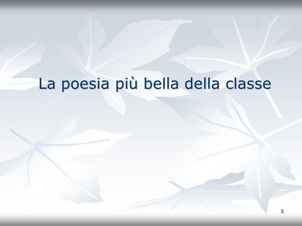 La poesia più bella della classe