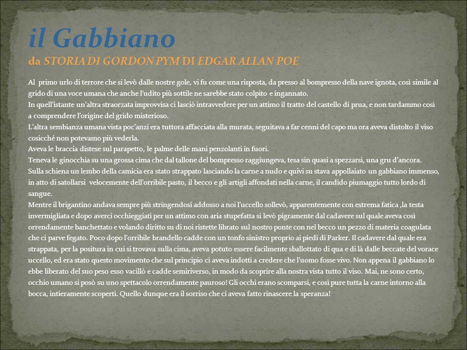 il Gabbiano da STORIA DI GORDON PYM DI EDGAR ALLAN POE