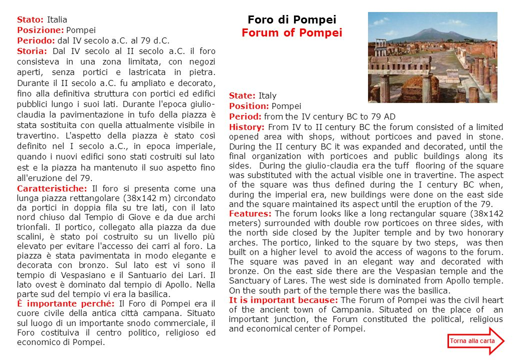 Foro di Pompei Forum of Pompei