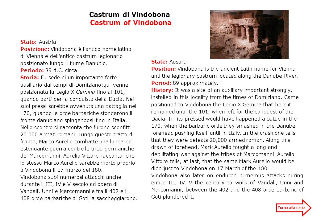 Castrum di Vindobona Castrum of Vindobona