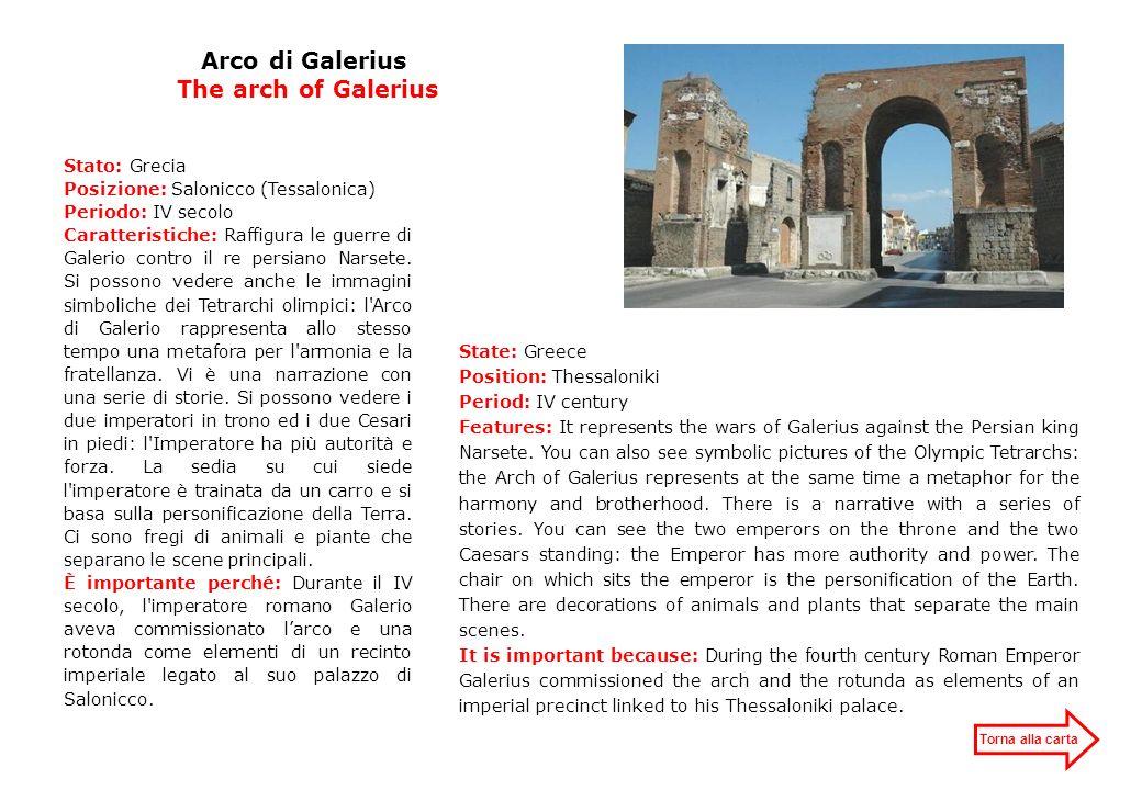 Arco di Galerius The arch of Galerius