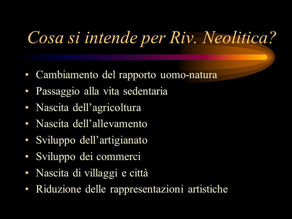 Cosa si intende per Riv. Neolitica