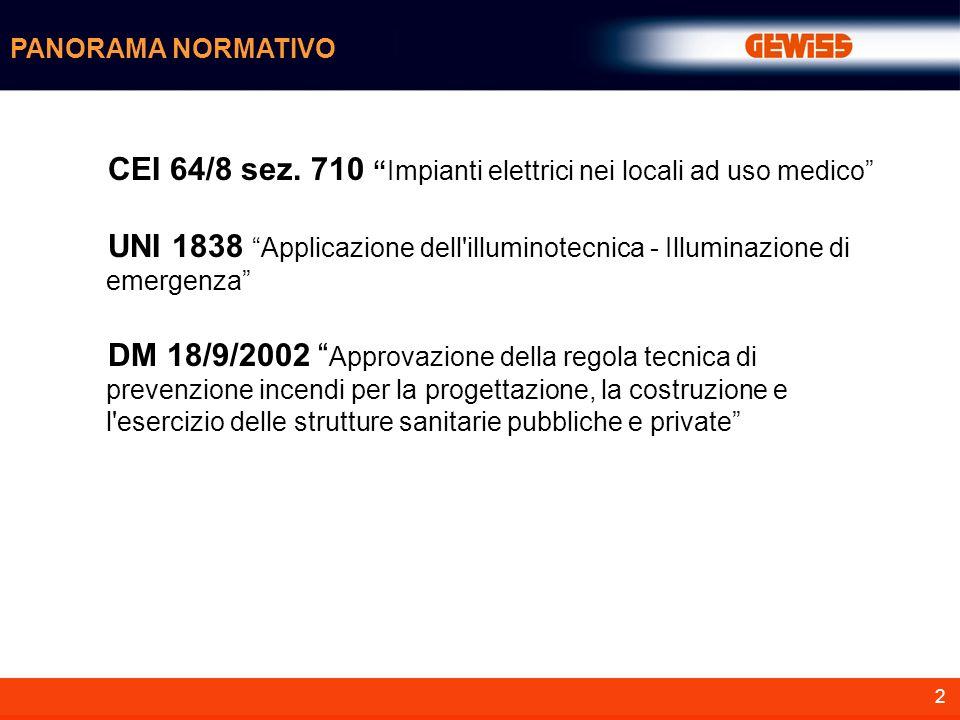 CEI 64/8 sez. 710 Impianti elettrici nei locali ad uso medico