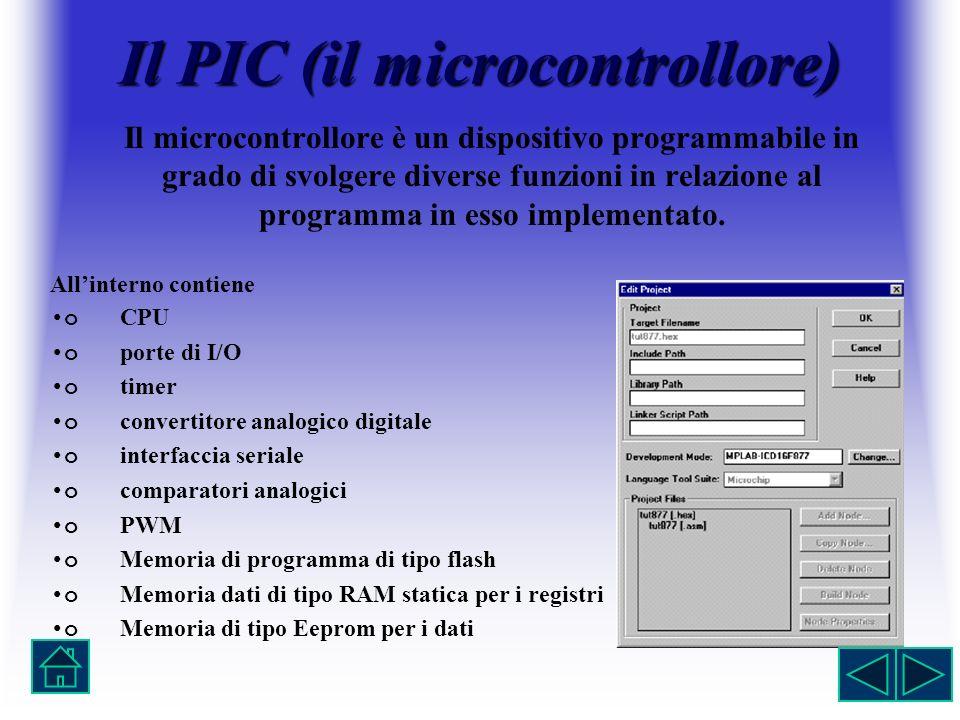 Il PIC (il microcontrollore)