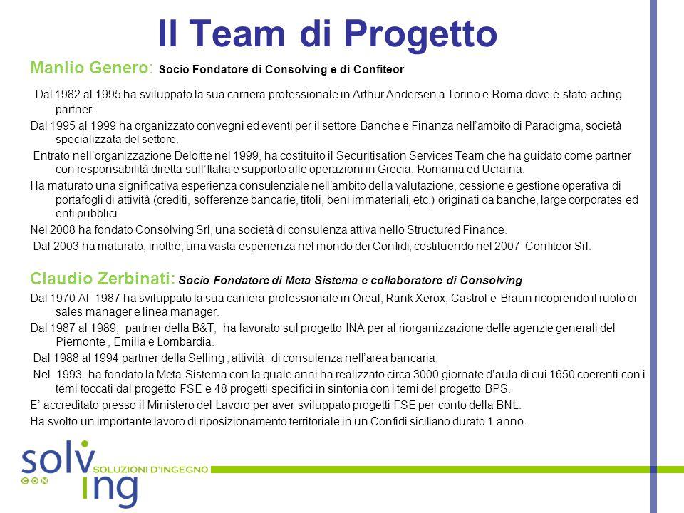 Il Team di Progetto Manlio Genero: Socio Fondatore di Consolving e di Confiteor.