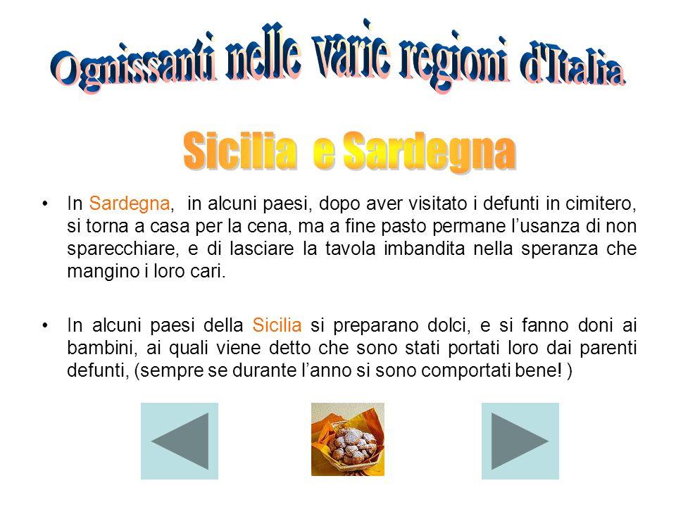 Ognissanti nelle varie regioni d Italia