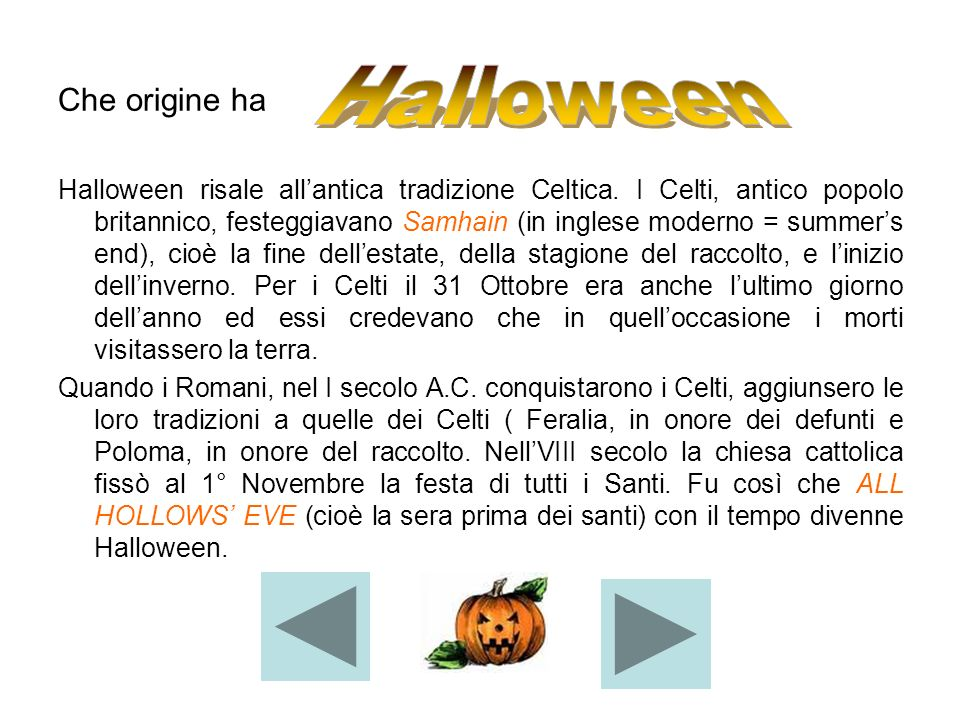 Halloween Che origine ha