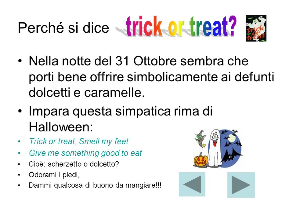 Perché si dice trick or treat