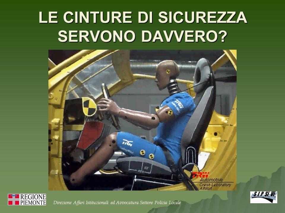 LE CINTURE DI SICUREZZA SERVONO DAVVERO