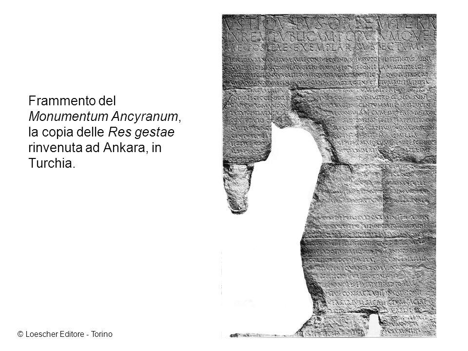 Frammento del Monumentum Ancyranum, la copia delle Res gestae rinvenuta ad Ankara, in Turchia.