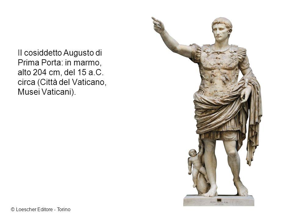 Il cosiddetto Augusto di Prima Porta: in marmo, alto 204 cm, del 15 a