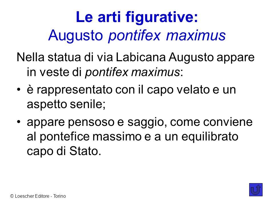 Le arti figurative: Augusto pontifex maximus