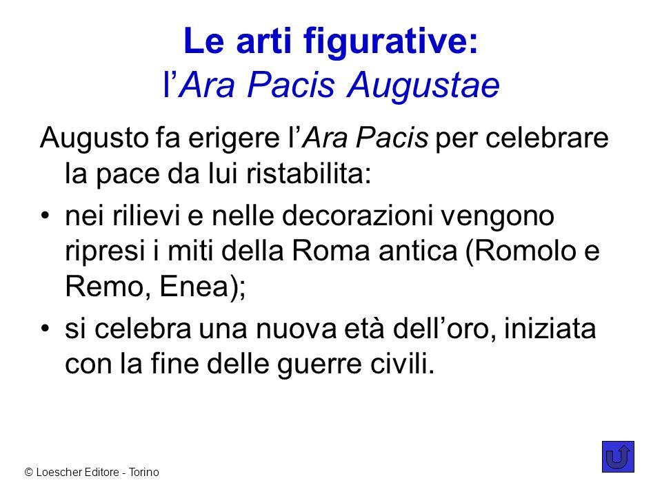 Le arti figurative: l'Ara Pacis Augustae