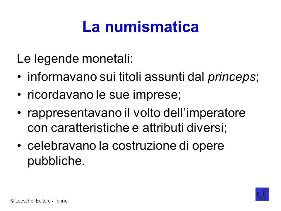 La numismatica Le legende monetali: