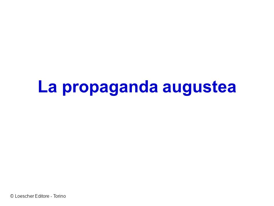 La propaganda augustea