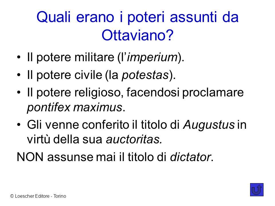 Quali erano i poteri assunti da Ottaviano