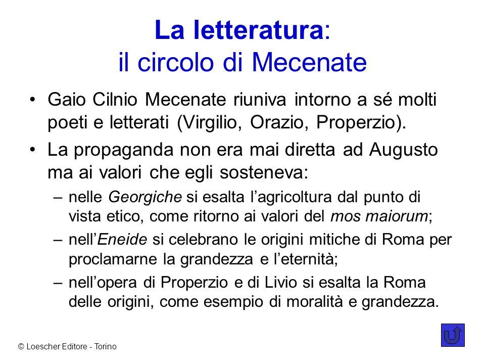 La letteratura: il circolo di Mecenate