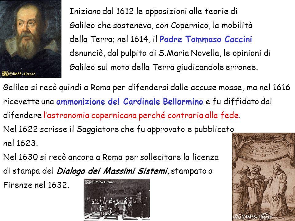 Iniziano dal 1612 le opposizioni alle teorie di