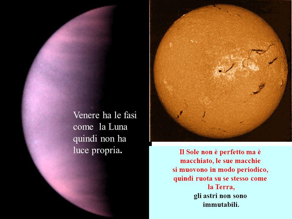 Venere ha le fasi come la Luna quindi non ha luce propria.