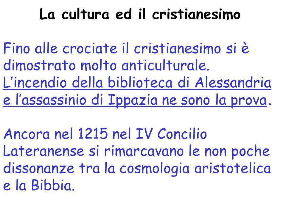 La cultura ed il cristianesimo