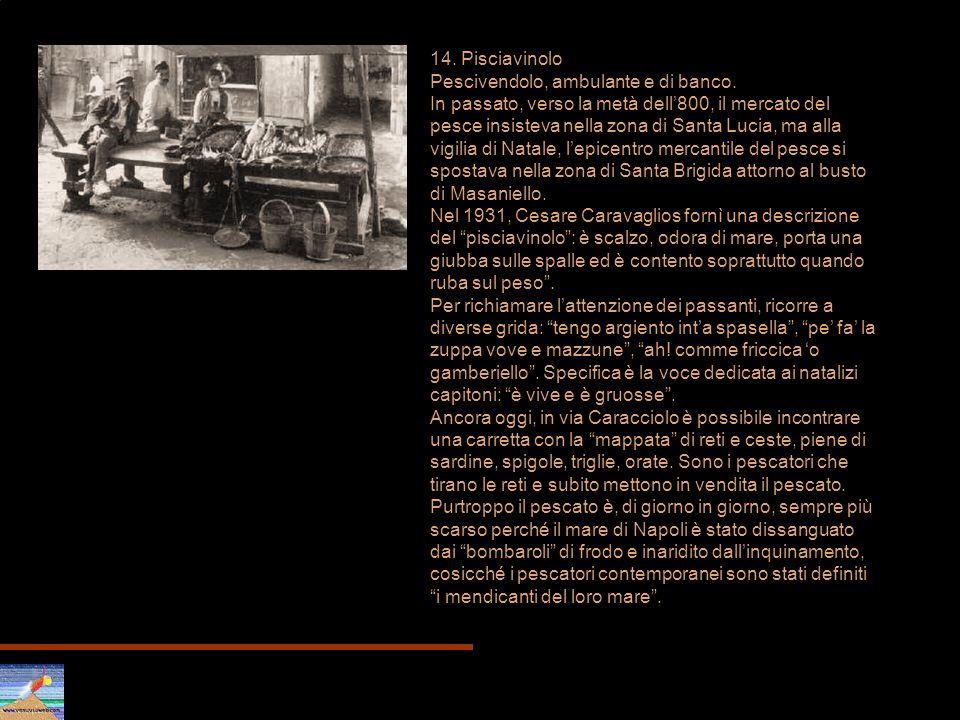 14. Pisciavinolo Pescivendolo, ambulante e di banco.