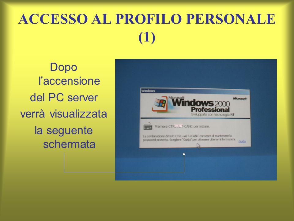 ACCESSO AL PROFILO PERSONALE (1)