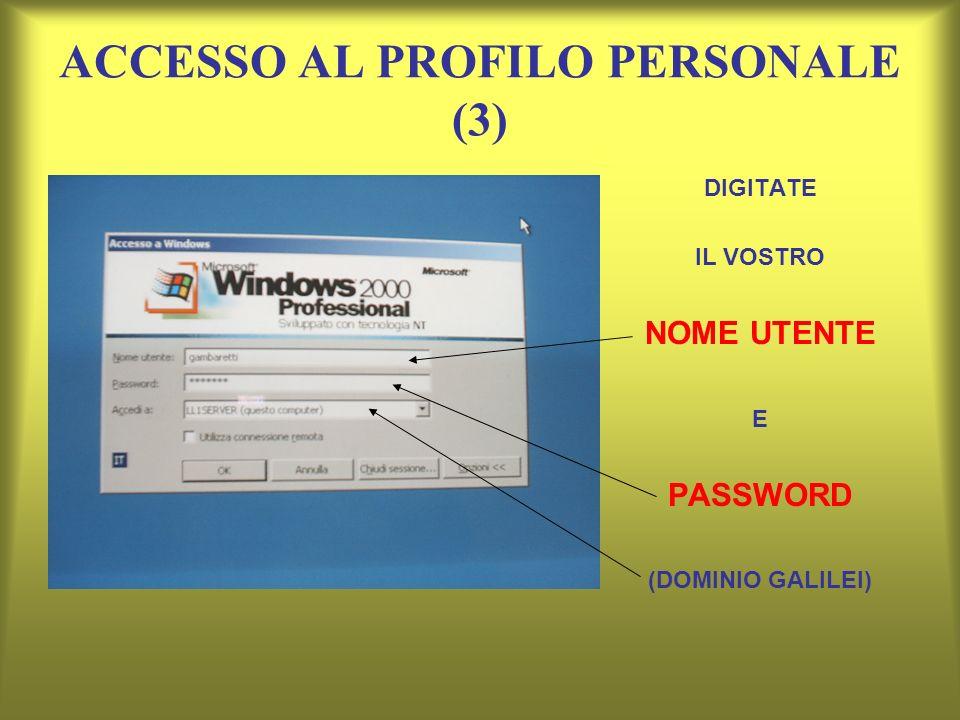 ACCESSO AL PROFILO PERSONALE (3)