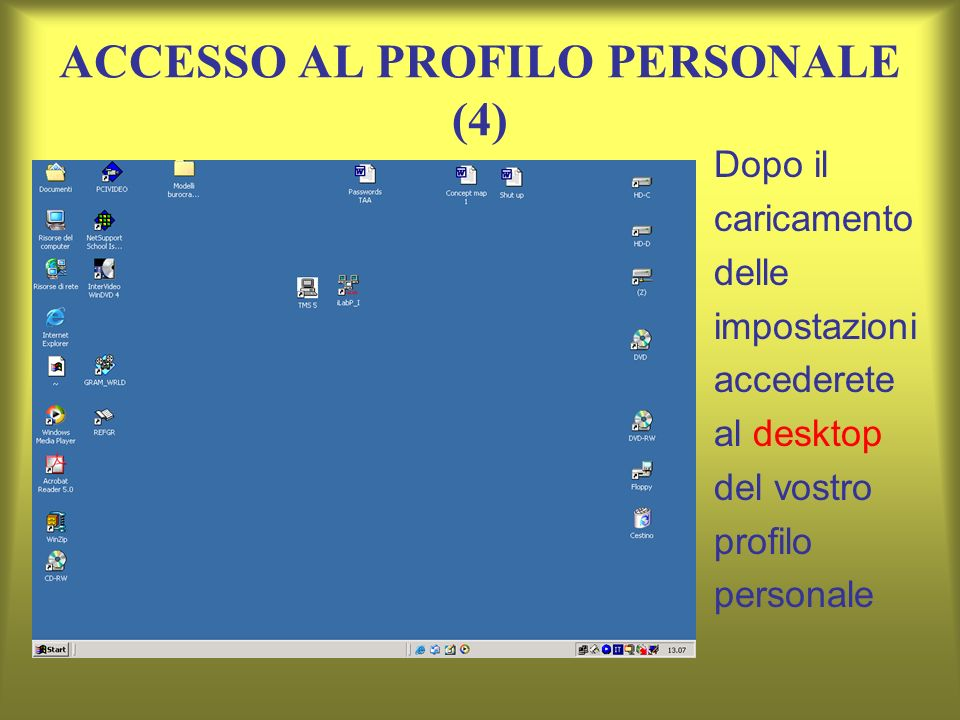 ACCESSO AL PROFILO PERSONALE (4)