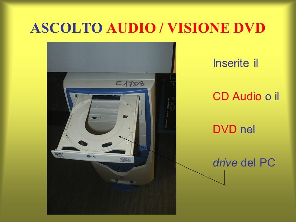 ASCOLTO AUDIO / VISIONE DVD