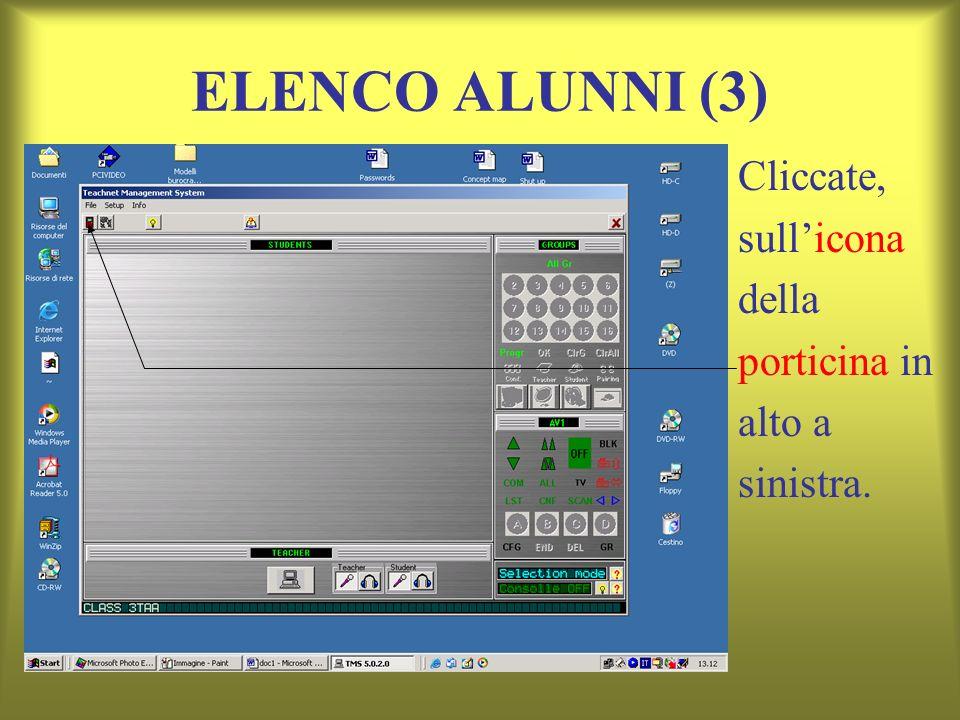ELENCO ALUNNI (3) Cliccate, sull'icona della porticina in alto a