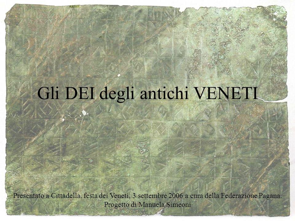 Gli DEI degli antichi VENETI