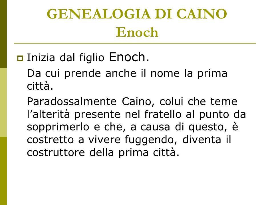GENEALOGIA DI CAINO Enoch