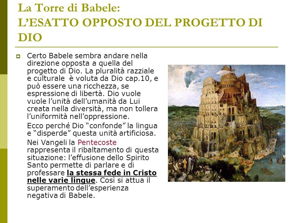 La Torre di Babele: L'ESATTO OPPOSTO DEL PROGETTO DI DIO