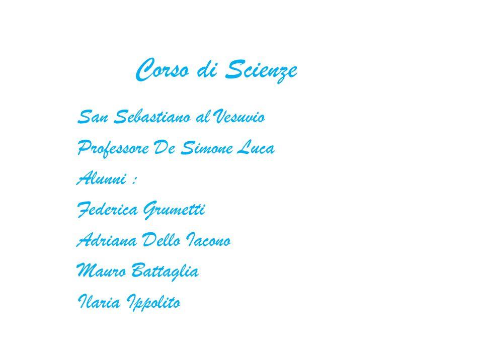 Corso di Scienze San Sebastiano al Vesuvio Professore De Simone Luca