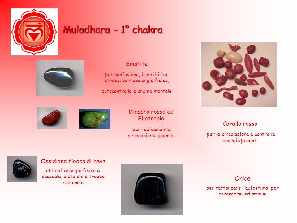 Muladhara - 1° chakra Ematite Diaspro rosso ed Eliotropio