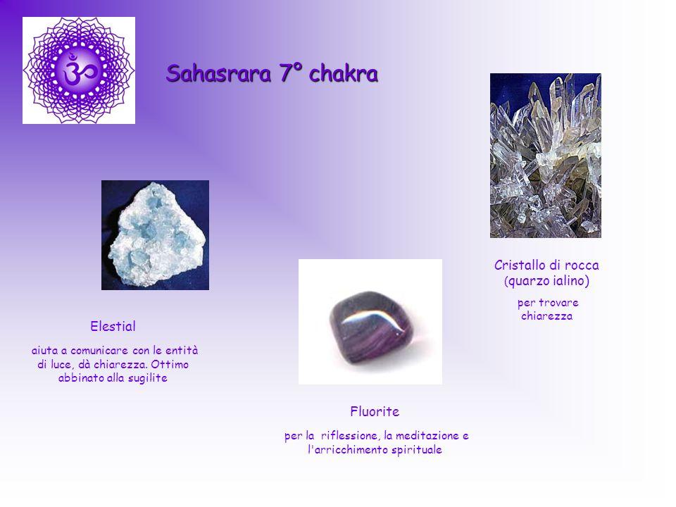 Sahasrara 7° chakra Cristallo di rocca (quarzo ialino) Elestial