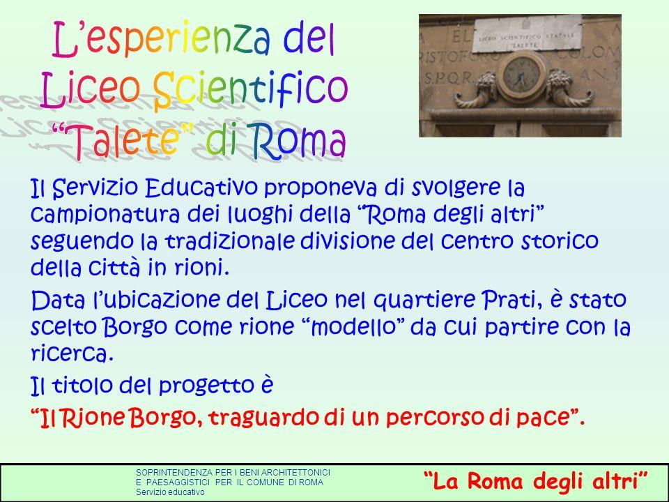 L'esperienza del Liceo Scientifico Talete di Roma