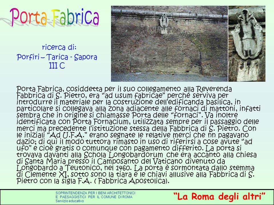 ricerca di: Porfiri – Tarica - Sapora III C