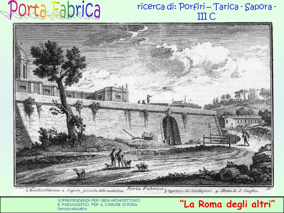 ricerca di: Porfiri – Tarica - Sapora - III C