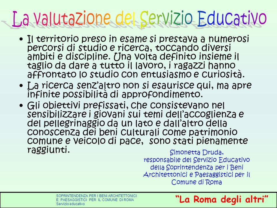 La valutazione del Servizio Educativo
