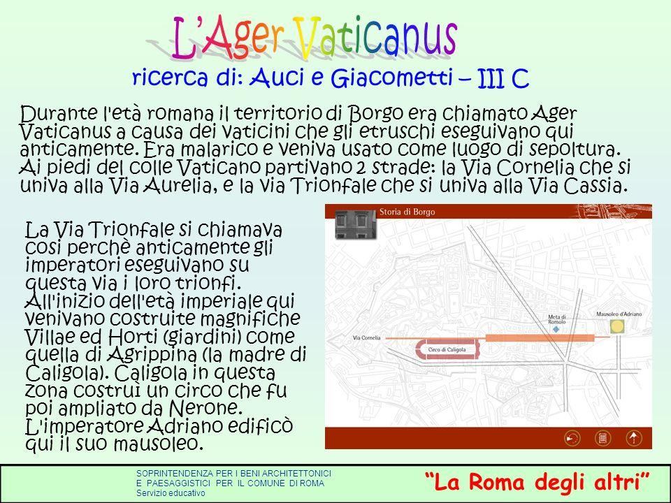 ricerca di: Auci e Giacometti – III C